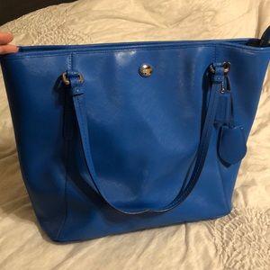 Bright blue Coach purse
